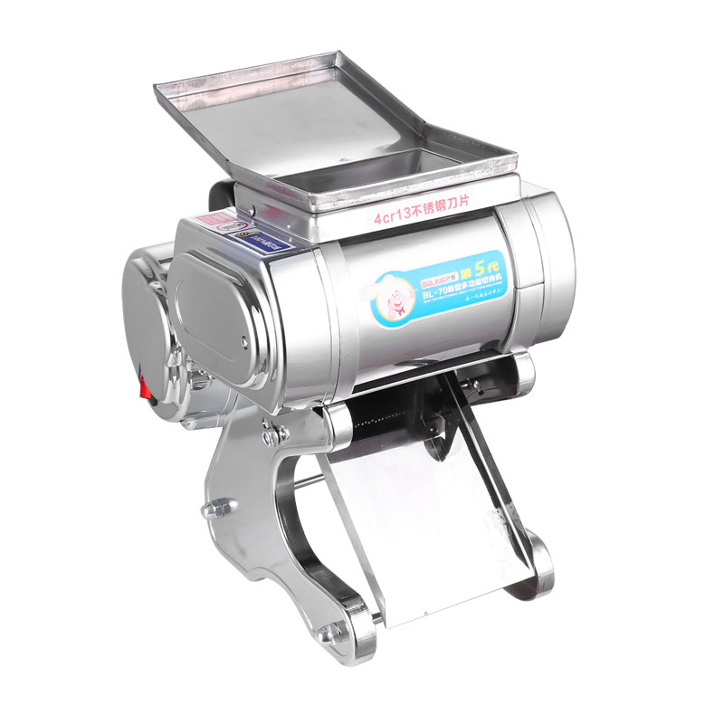 What should be paid attention to when using the meat slicer safely?